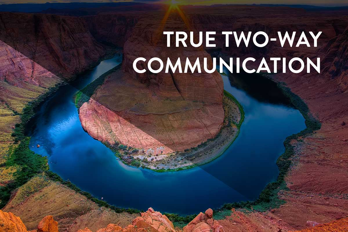 True Two-Way Communication with RPMA