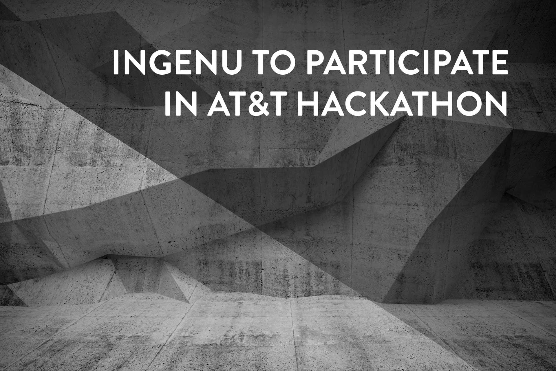 Ingenu to participate in AT&T hackathon