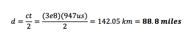 AP to endpoint distance equation
